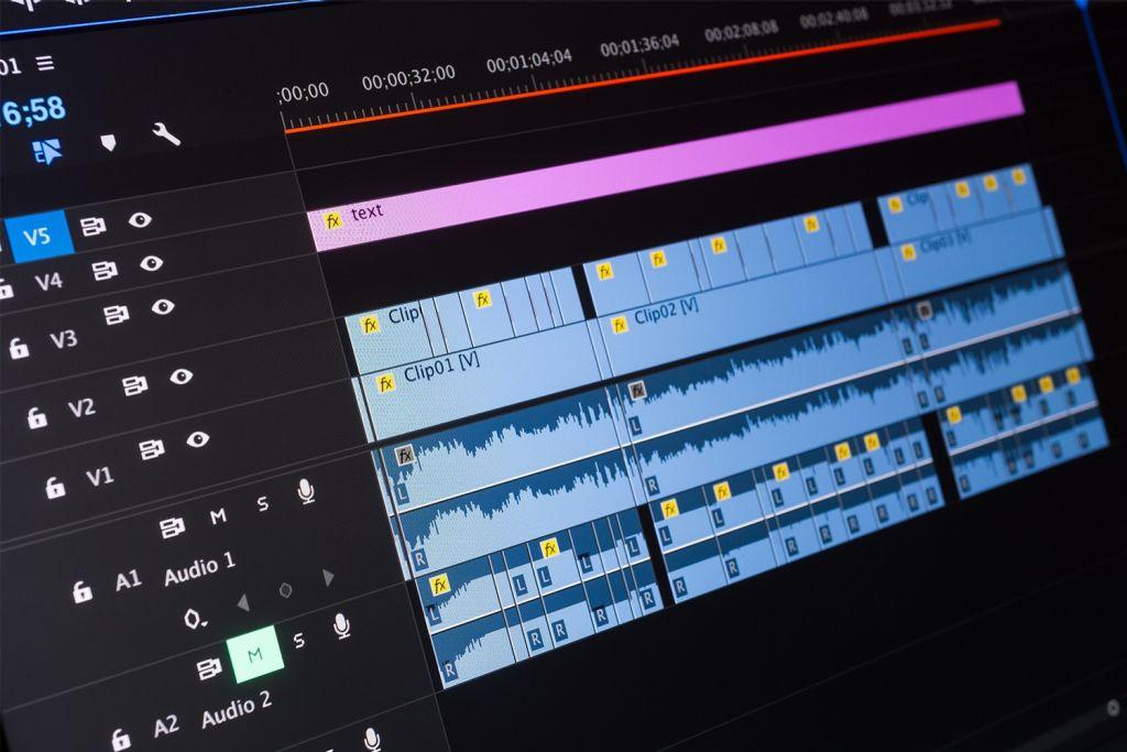Edição de vídeo em um computador