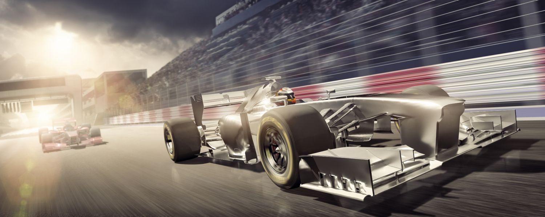 Dois carros de corrida representam a velocidade da memória e a latência CAS