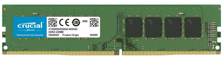 Um módulo de memória RAM UDIM DDR4 da Crucial