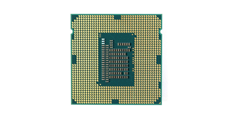 Unidade de processamento central (CPU) de um computador.