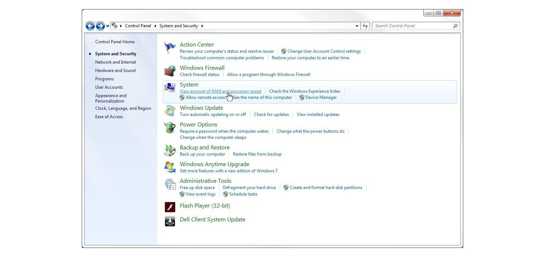 "Janela ""Sistemaesegurança"" no Windows7"